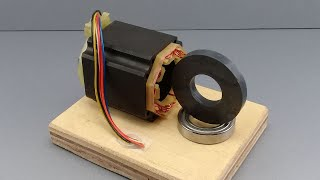 Permanent Magnet Free Energy Self Running Generator Using New Science Technology