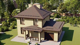Проект дома 144-A, Площадь дома: 144 м2, Размер дома:  13,4x9,2 м