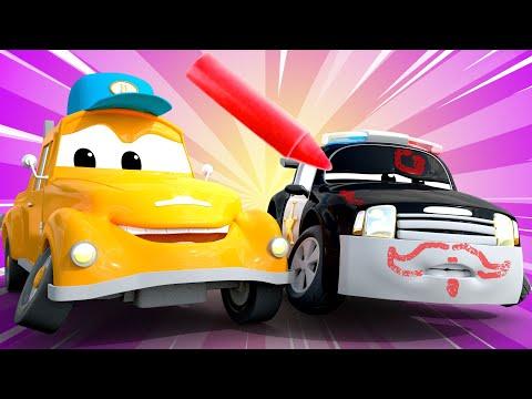 El Lavado De Autos De Tom Matt El Carro Policia Esta Cubierto De