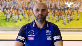 North Melbourne FC Coach Rhyce Shaw talks footy and gambling