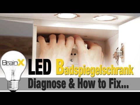 LED Badspiegelschrank ganz einfach selbst repariert