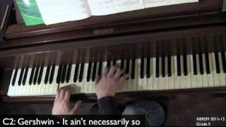 ABRSM 2011-2012 Grade 5 C2: Gershwin - It ain't necessarily so
