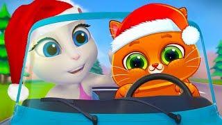 КОТЕНОК БУБУ #74 мультик игра про котиков Кот смотрит Говорящего Тома и Говорящую Анджелу #ПУРУМЧАТА