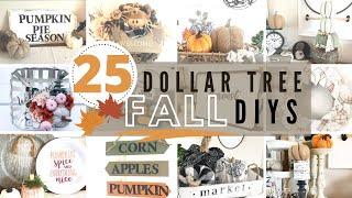 🍂25 Dollar Tree FALL  DIYS   DOLLAR TREE FALL 2020   The Best Of FALL DECOR