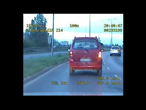 Wideo1: Łamał przepisy na wiadukcie w Lesznie