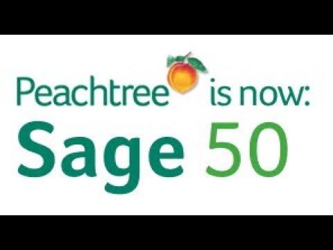 Sage 50 Peachtree Accounting Software Training - YouTube