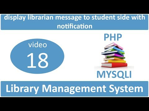 display librarian message to student side with notification