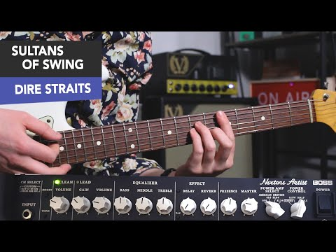 DIRE STRAITS - SULTANS OF SWING GUITAR TUTORIAL - ALL CHORDS + LICKS