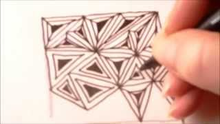How To Draw Tanglepattern Fassett