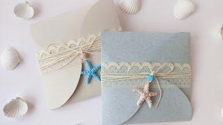 Partecipazioni Nozze Tema Marino Fai Da Te - DIY Wedding Invitations Marine Style