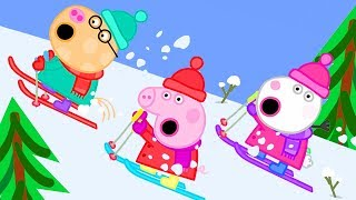 Peppa Pig Official Channel ⛷ Peppa Goes Skiing on a  Snowy Mountain