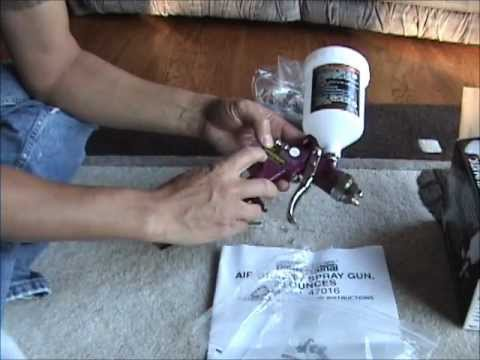Harbor Freight HVLP Spray Gun Review (Central Pneumatic #47016)