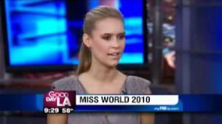 Miss World Alexandria Mills on Good Day LA.