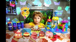 Making different sweets with cake's factory :) Sweet Shoppe, Play-Doh. Все Видео Канала LiSkA KiTtY: