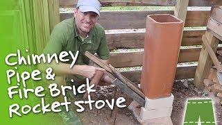How To Make A Chimney Pipe And Fire Brick Rocket Stove