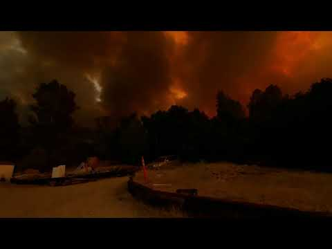 California Sky Turns Red as Lake Hughes Fire Continues to Burn