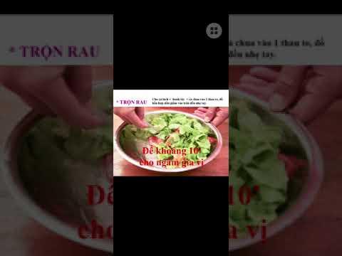 Công Nghệ 6 - Bài 19: Thực hành chế biến món ăn - Trộn dầu giấm rau xà lách