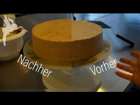 Wie die Kuchenfee Torten scharfkantig einstreicht - Torten einstreichen - Kuchenfee Lisa