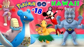 POKEMON GO in HAWAII @ DISNEY! COMPLETING POKEDEX w/ Mickey Mouse! A Magical Place (FGTEEV Part 18)