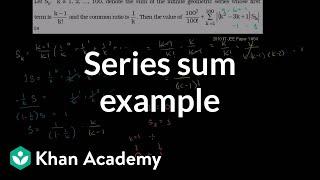 Series Sum Example