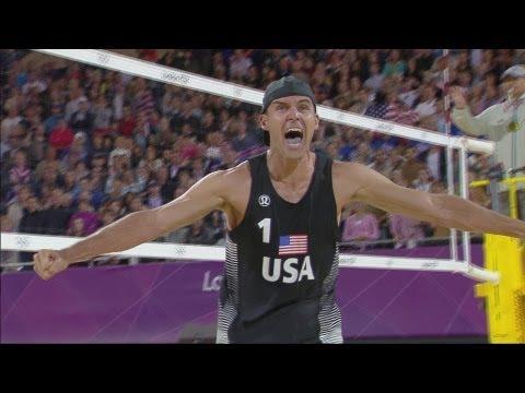 Men's Beach Volleyball Round of 16 - RUS v USA | London 2012 Olympics