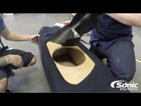 How to Carpet a Subwoofer Box with a Two-Tone Baffle? | Car Audio Q & A