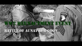 preview picture of video 'German-Airsoft-WW2-Reenactment Battle of Aunay sur Odon in Finowfurt'