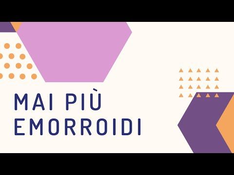 Trombosi di nodo gemorroidalny di video