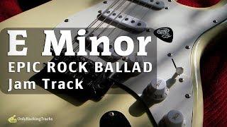 Instrumental Rock Ballad Backing Track (E Minor) 94 Bpm