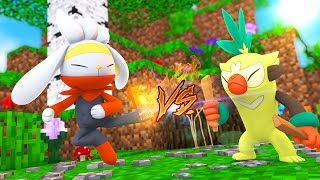 Raboot  - (Pokémon) - Minecraft : RABOOT vs THWACKEY *Batalha pokemon* - POKEMON FUTURE Ep.6 « Nitro »
