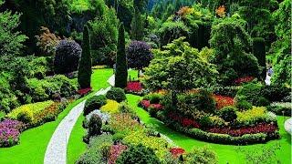 4K HDR Video – Beautiful Flower Garden In Canada, The Butchart Gardens