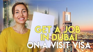 How To Search For A Job In Dubai On A Visit Visa.