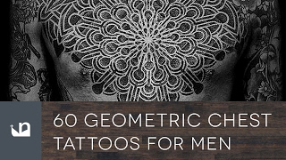 60 Geometric Chest Tattoos For Men