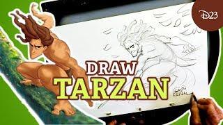 How To Draw Tarzan With Disney Legend Glen Keane | Drawing With D23