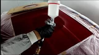 Локальная покраска.  ремонт крыши Honda C RV