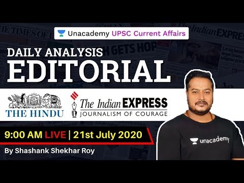 21st-July-2020 |The Hindu & Indian Express Analysis|Current Affairs for UPSC CSE/IAS |Shashank Sir