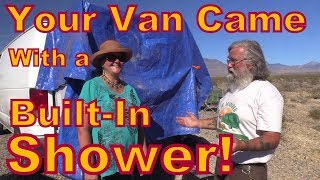 Your Van Came With a Built-Shower: Making a Shower Enclosure Out of a Van Door