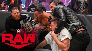 In his return to Raw, Rey Mysterio says he needs to get retribution against The Monday Night Messiah by himself, but he quickly finds himself in a fight alongside his son, Dominik, Aleister Black and Humberto Carrillo. #WWERAW WWE Network | Subscribe now: http://wwe.yt/wwenetwork