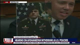 'You are a liar' Congressman shows Antony Blinken the faces of soldiers killed in Afghanistan