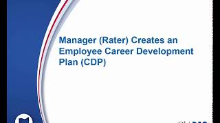 Manager Rater Creates an Employee Career Development Plan