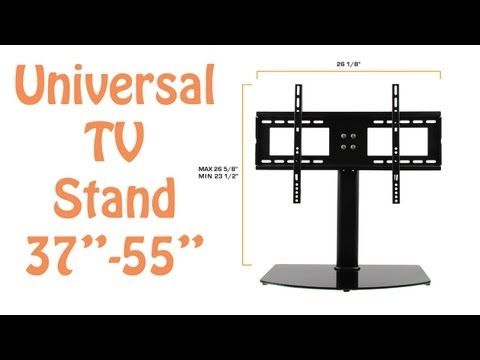 "Universal TV Stand & TV Wall Mount Combo For 37"" - 55"" LCD/LED/Plasma TVs - TV Stand Replacement Mp3"