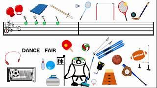 Sports Dance - 200 seconds - LU LU CHUI / 「スポーツダンスー200秒」の英語版 | Kids Dance Songs | Olympic