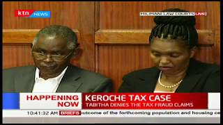 Keroche Breweries Directors Tabitha and Joseph Karanja at the Milimani Law Courts