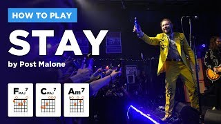 🎸 STAY • Post Malone guitar lesson (w/ chords, tabs, and strumming tutorial)