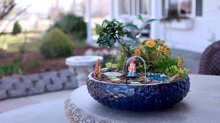 Fun, Colorful Miniature Garden With DIY Pond! 💦🌿🌈// Garden Answer