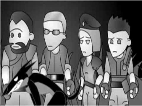 Cartoon Resident Evil Aufreißer
