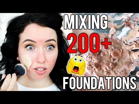 Mixing ALL 200+ OF MY FOUNDATIONS TOGETHER...