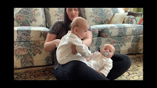 Feeding twins: How to tandem nurse twins anywhere without a nursing pillow
