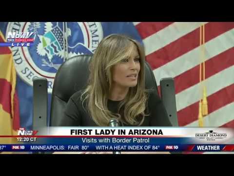 WATCH: First Lady Melania Trump Visits Arizona Border