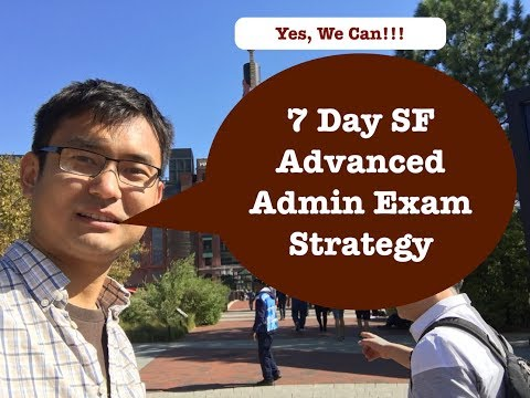 7 Day Plan for SalesForce Advanced Admin Exam - YouTube